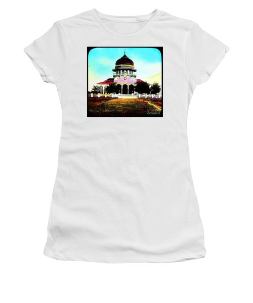 Malay Mosque Singapore Circa 1910 Women's T-Shirt (Junior Cut) by Peter Gumaer Ogden