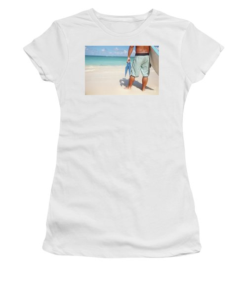 Male Bodyboarder Women's T-Shirt