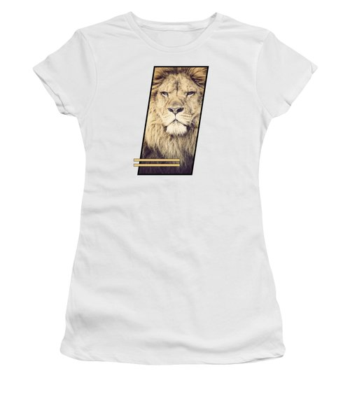 Male Lion Women's T-Shirt (Athletic Fit)