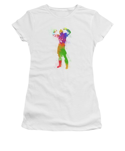 Male Watercolor Pose 1 Women's T-Shirt (Athletic Fit)