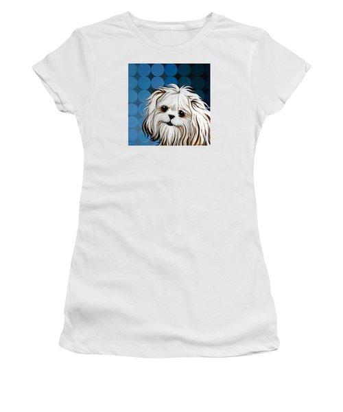 Maltese Magic Women's T-Shirt (Junior Cut) by Leanne WILKES