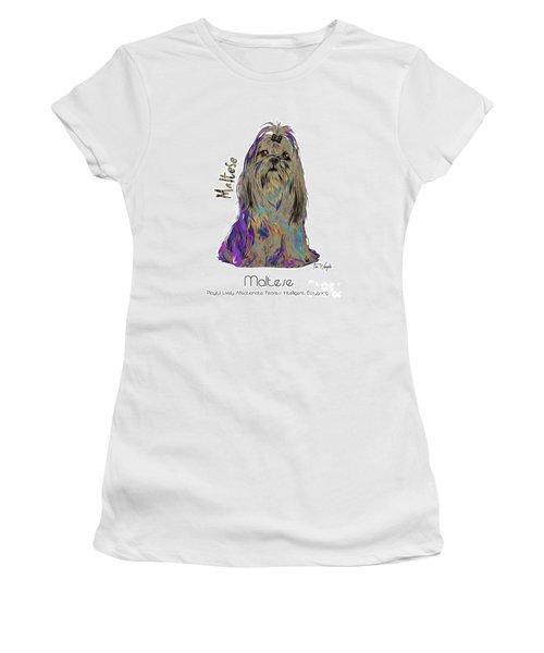 Maltese Pop Art Women's T-Shirt