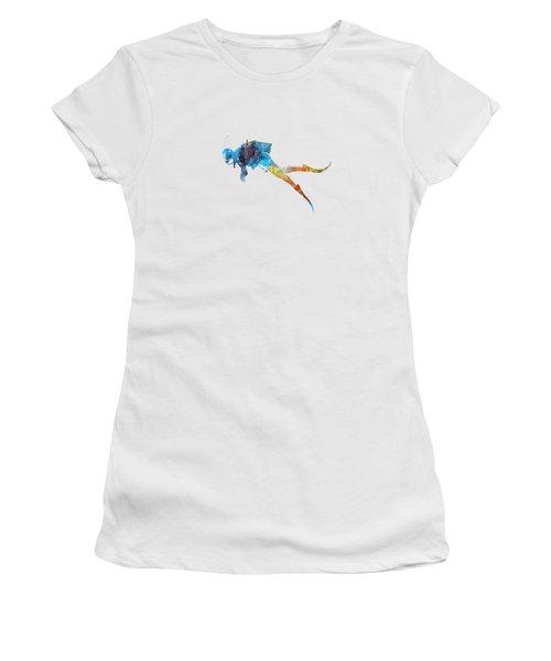 Man Scuba Diver 01 In Watercolor Women's T-Shirt