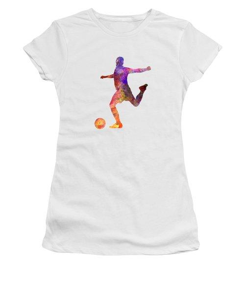 Man Soccer Football Player 03 Women's T-Shirt (Junior Cut) by Pablo Romero