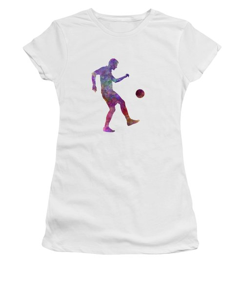 Man Soccer Football Player 04 Women's T-Shirt (Athletic Fit)