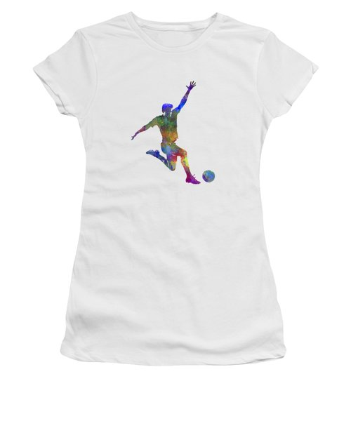 Man Soccer Football Player 05 Women's T-Shirt (Athletic Fit)