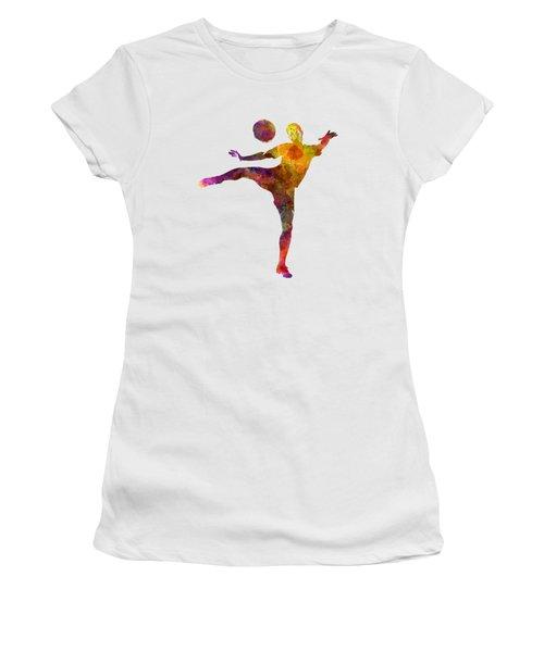 Man Soccer Football Player 07 Women's T-Shirt (Junior Cut) by Pablo Romero