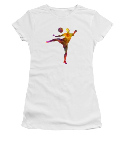 Man Soccer Football Player 07 Women's T-Shirt (Athletic Fit)