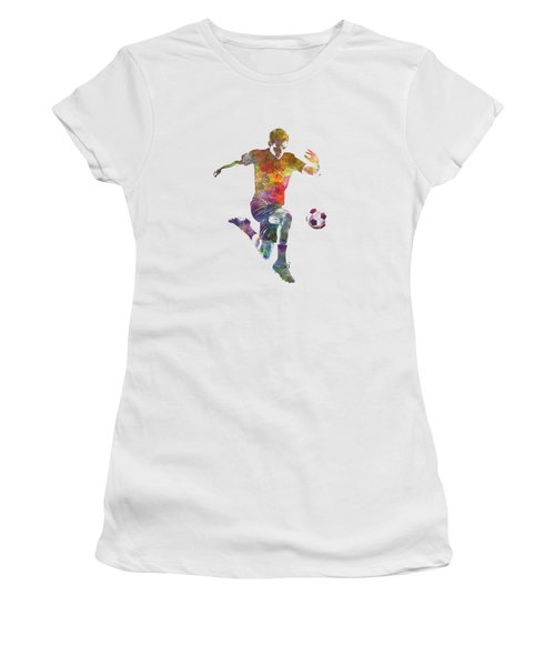 Man Soccer Football Player 09 Women's T-Shirt (Athletic Fit)