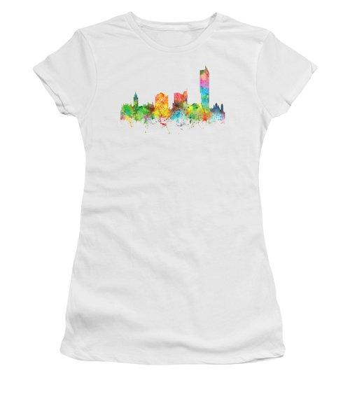 Manchester City Skyline Women's T-Shirt (Junior Cut) by Marlene Watson