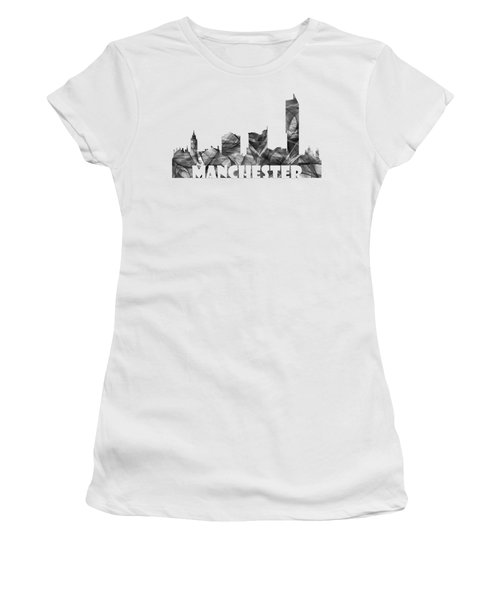 Manchester England Skyline Women's T-Shirt (Athletic Fit)