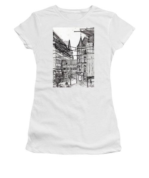 Manchester Town Hall From City Art Gallery Women's T-Shirt