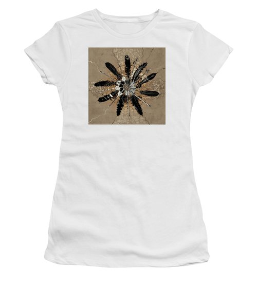 Mandala Arrow Feathers Women's T-Shirt (Athletic Fit)