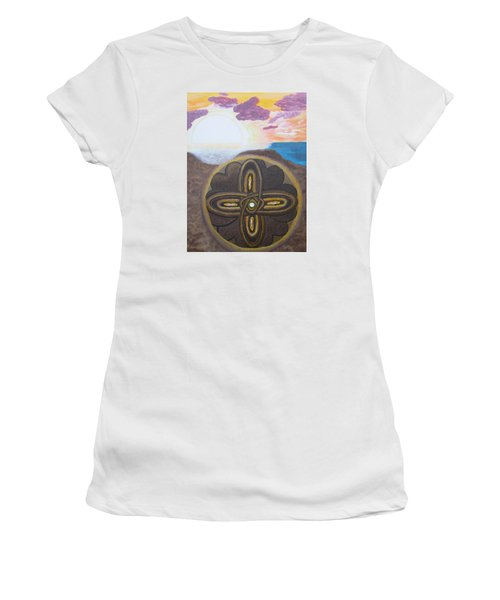 Mandala In The Sand Women's T-Shirt (Athletic Fit)