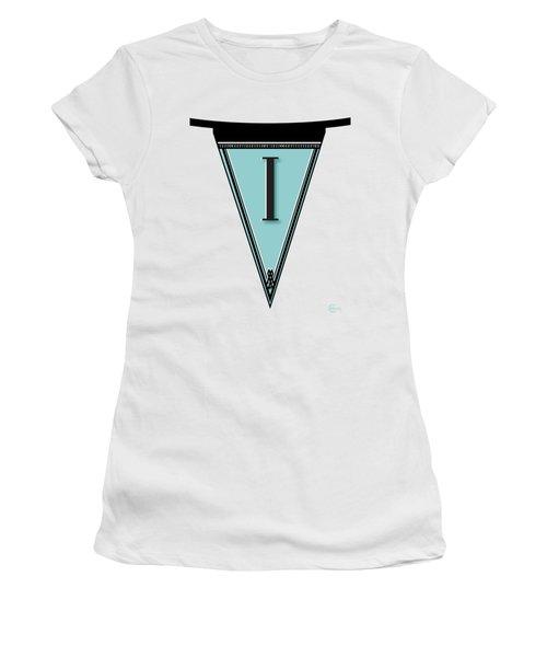 Pennant Deco Blues Banner Initial Letter I Women's T-Shirt
