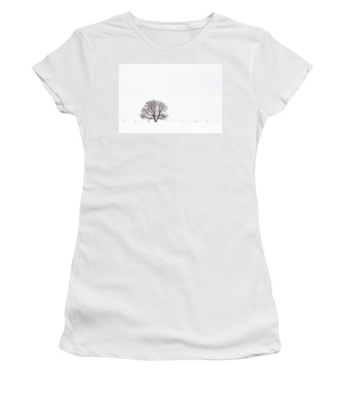 Manitoba Winter Women's T-Shirt (Junior Cut) by Yvette Van Teeffelen