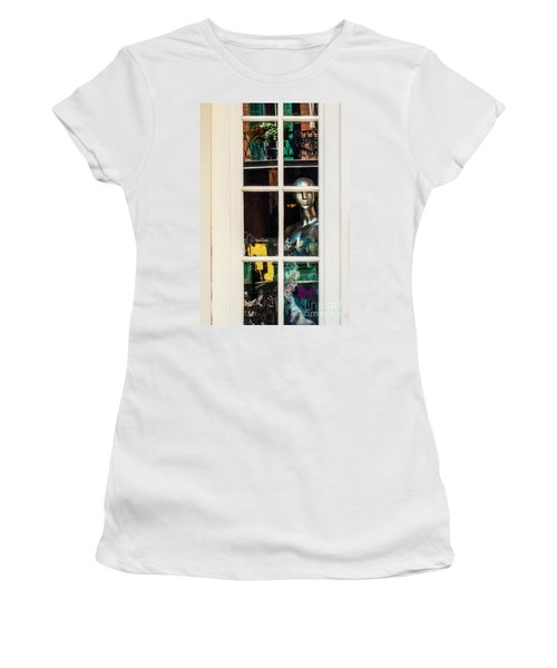 Mannequin Reflecting Women's T-Shirt (Athletic Fit)