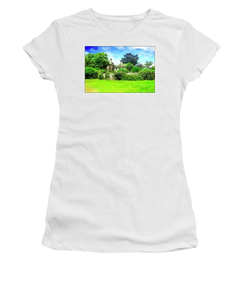 Mansion And Gardens At Harkness Park. Women's T-Shirt