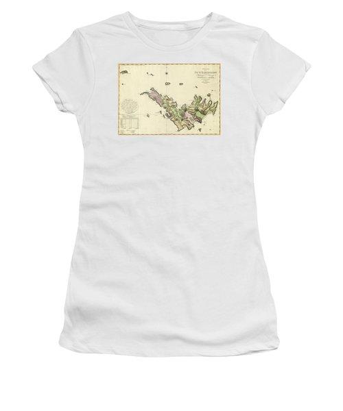 Map Of Saint Barts 1801 Women's T-Shirt