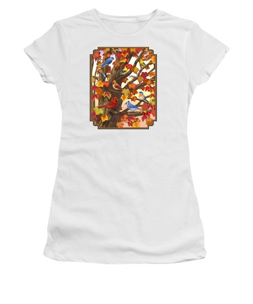 Maple Tree Marvel - Bird Painting Women's T-Shirt