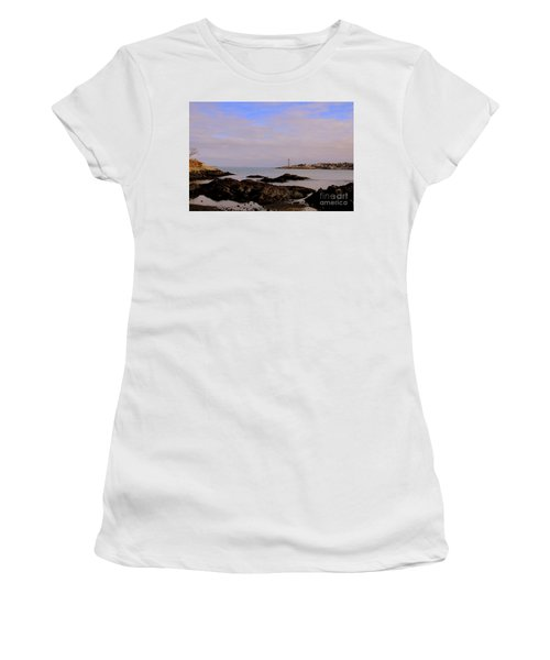 Marblehead Harbor And Light Women's T-Shirt (Athletic Fit)