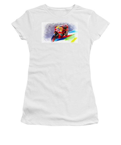 Marc Marquez Get Up Close Women's T-Shirt (Athletic Fit)