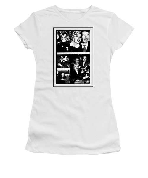 Marilyn Monroe And Joe Dimaggio 1950s Photos By Unknown Japanese Photographer Women's T-Shirt (Athletic Fit)