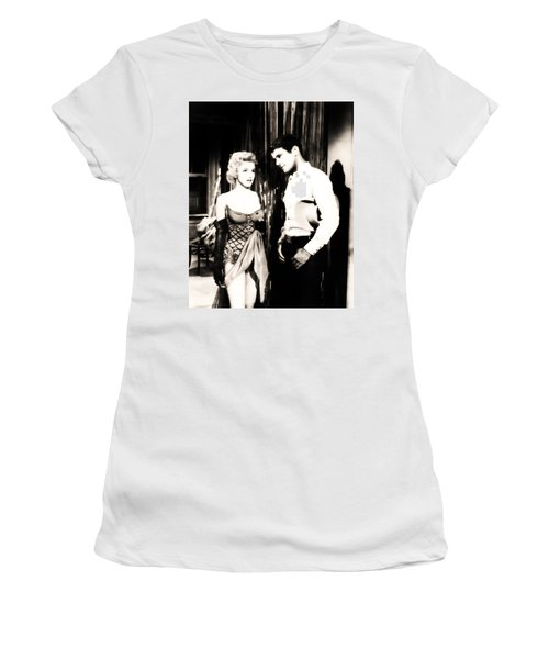 Women's T-Shirt (Athletic Fit) featuring the photograph Marilyn Monroe Blond Bomb Shell by R Muirhead Art