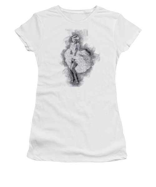 Marilyn Monroe Portrait 03 Women's T-Shirt (Junior Cut) by Pablo Romero