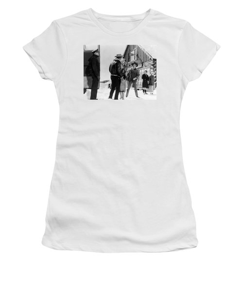 Women's T-Shirt (Athletic Fit) featuring the photograph Marilyn Monroe Western Scene by R Muirhead Art