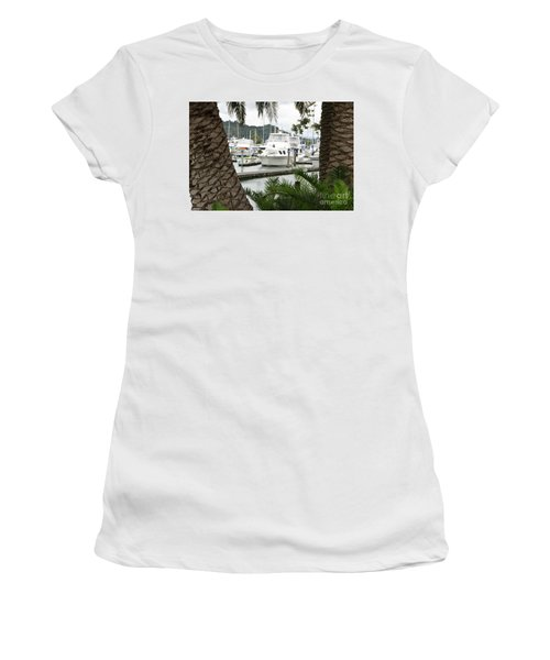 Women's T-Shirt (Junior Cut) featuring the photograph Marina View by Yurix Sardinelly