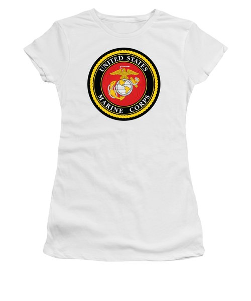 Marine Corps Seal Women's T-Shirt (Athletic Fit)