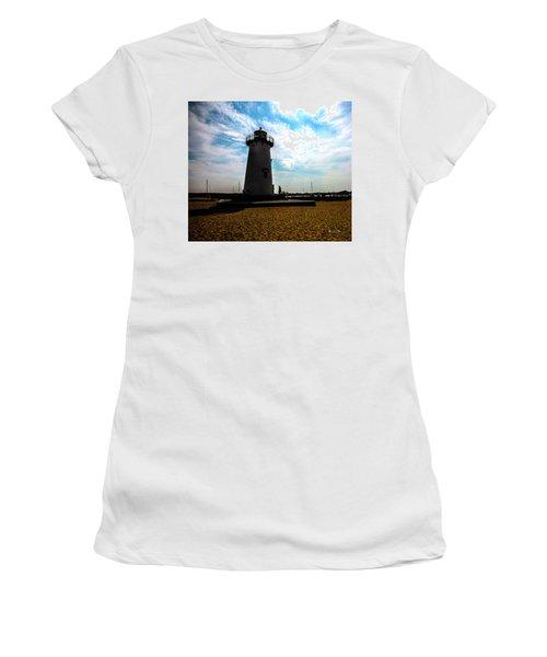 Women's T-Shirt (Junior Cut) featuring the photograph Martha's Vineyard Lighthouse - Massachusetts by Madeline Ellis