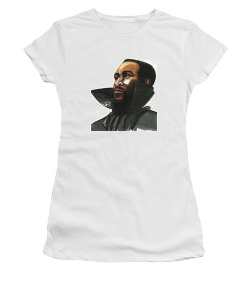 Marvin Gaye Women's T-Shirt (Junior Cut) by Emmanuel Baliyanga