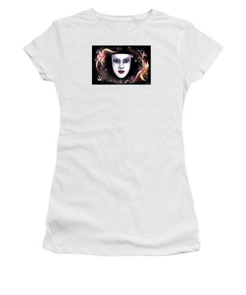 Women's T-Shirt (Junior Cut) featuring the photograph Mask And Vines by Gary Crockett