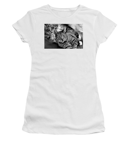 Women's T-Shirt (Athletic Fit) featuring the photograph Master And Apprentice by Roger Bester