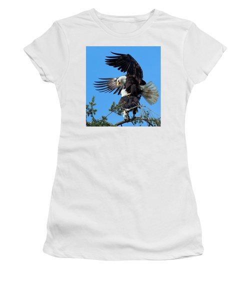 Mating Ritual Women's T-Shirt (Junior Cut) by Sheldon Bilsker