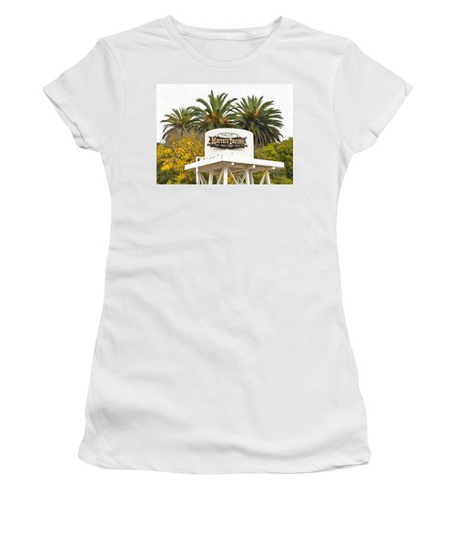 Women's T-Shirt (Junior Cut) featuring the photograph Matties Tavern Los Olivos California by Floyd Snyder