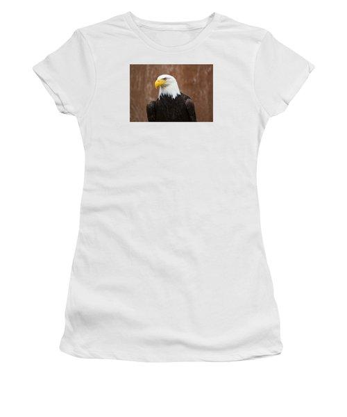 Mature Adult Bald Eagle Women's T-Shirt (Athletic Fit)