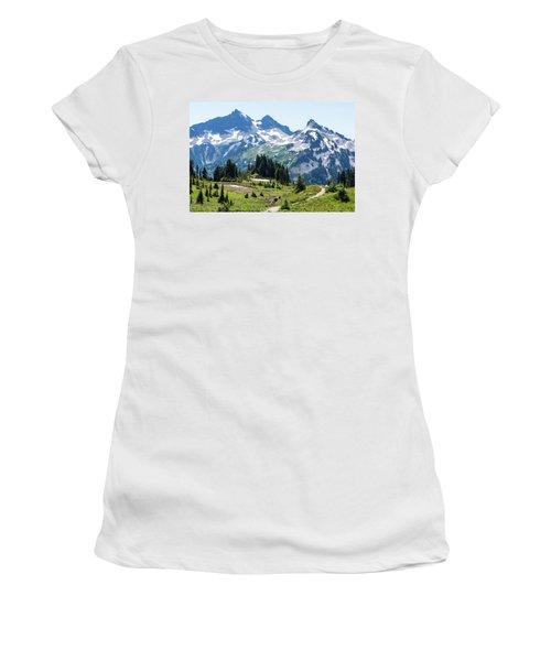 Mazama Ridge And Tatoosh Range Women's T-Shirt