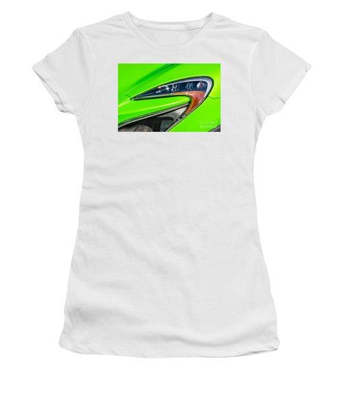 Mclaren P1 Headlight Women's T-Shirt (Junior Cut) by Aloha Art