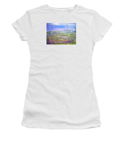Meadow Sky By Colleen Ranney Women's T-Shirt (Athletic Fit)