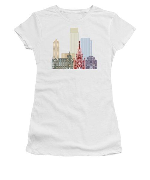 Medellin Skyline In Poster Women's T-Shirt