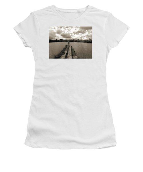 Meditation Women's T-Shirt (Junior Cut) by Beto Machado
