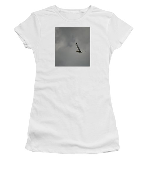 Women's T-Shirt (Junior Cut) featuring the photograph Meet Me On The Other Side by Ramona Whiteaker