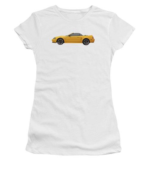 Mellow Yellow 1999 Mustang  Women's T-Shirt (Junior Cut) by Gill Billington