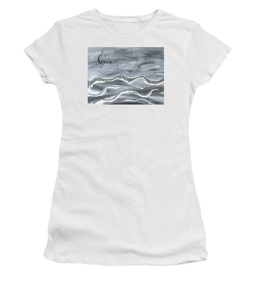 Women's T-Shirt (Junior Cut) featuring the painting Melody by Kenneth Clarke
