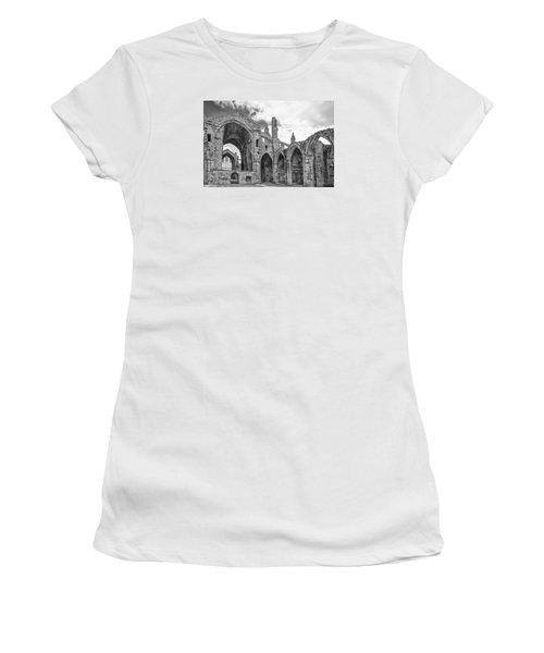 Melrose Abbey Women's T-Shirt (Junior Cut) by Elvira Butler