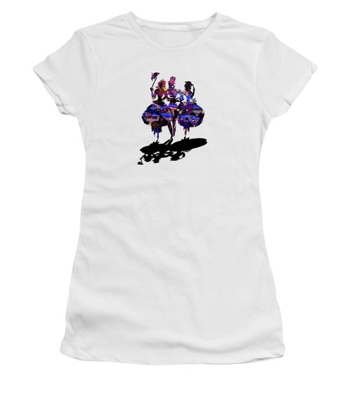 Menage A Trois On Transparent Background Women's T-Shirt (Junior Cut) by Barbara St Jean