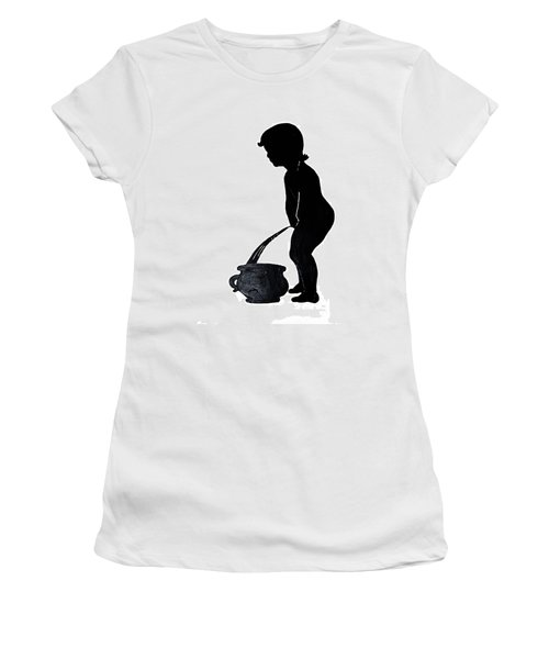 Mens Room Sign Silhouette Women's T-Shirt (Athletic Fit)